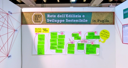 Stand Martina Franca - Post-it riunioni con Andrea Gelao (facilitatore)